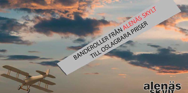 Banderoll efter flygplan