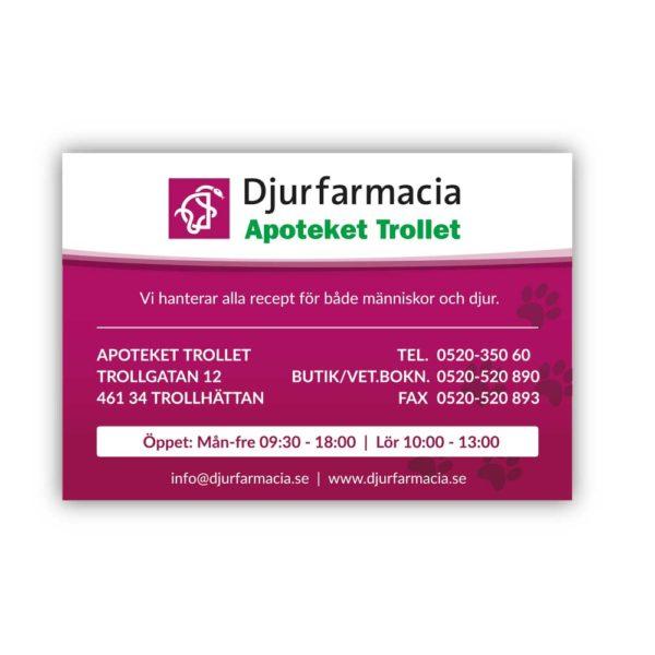 Magnet-rak Djurfarmacia